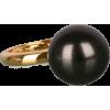 Gunmetal Single Pearl Ring - Prstenje -