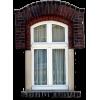 Red Brick Wig Window - Buildings -