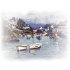 boats in harbour - Illustrations -