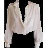white blouse - Košulje - duge -