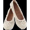 white crochet ballet flats - Flats -