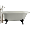 white kohler clawfoot bathtub - Arredamento -