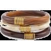 wood bangles - Bracelets -