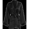 wrap cardigan in black - Swetry na guziki -