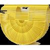 yellow bamboo bag - Hand bag -