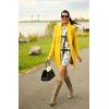 yellow coat outfit - Moje fotografije -