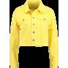 yellow denim jacket - Jacket - coats -