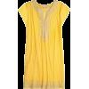 yellow embroidered tunic - Tunic -