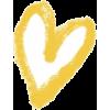 yellow heart - Predmeti -