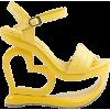 yellow heart sandals - Sandals -