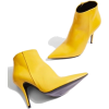 yellow heeled ankle booties - Boots -