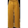yellow pants - Pantalones Capri -