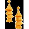 yellow tassel earrings fringe - Earrings -