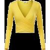 yellow top - Long sleeves t-shirts -