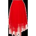 asia12 - асимметричная юбка из тюля - Gonne -