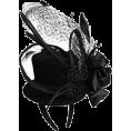 Erissa - 黒カクテルハット付きカチューシャ - Accessories -