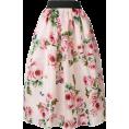 Rocksi -  Dolce & Gabbana rose print full skirt - Skirts - $1,891.00