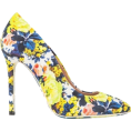 MoonStone -  MSGM FLORAL PRINT CANVAS PUMP - Platforms -
