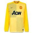 NIKE - 2013-14 Man Utd Home Nike Goalkeeper Shirt (Yellow) - T-shirts - $84.78