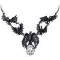amethystsky - A Murder of Crows necklace - Necklaces - $82.73