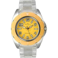 AK Anne Klein - AK Anne Klein Transparent Bracelet Yellow Dial Women's watch #10/9641YLCL - Watches - $41.50