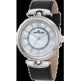 AK Anne Klein - AK Anne Klein Women's 10/9837MPBK Silver-Tone Black Leather Strap Watch - Watches - $51.80