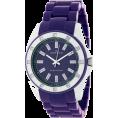 AK Anne Klein - AK Anne Klein Women's 109179PRPR Swarovski Crystal Accented Silver-Tone Purple Plastic Watch - Zegarki - $45.18  ~ 34.12€