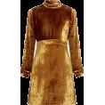 sandra  - A.L.C. Gemma High-Neck Velvet Dress - Dresses -