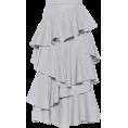 vespagirl - ALEXACHUNG Striped ruffle cotton midi  - Skirts - $570.00