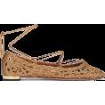 beautifulplace - AQUAZZURA Kya Embroidered Ankle-Tie Flat - Flats -