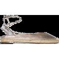 beautifulplace - AQUAZZURA gold ankle-tie leather espadri - Flats -
