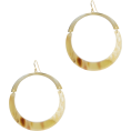 beautifulplace - ARGENTO VIVO Flat Gold Hoops - Orecchine -