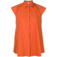 vespagirl - ASPESI sleeveless flared blouse orange - Shirts - $226.00  ~ £171.76