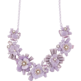 whisper - Accessorize LILAC FLOWER NECKLACE - Necklaces - £12.50  ~ $16.45