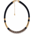 sandra  - Accessorize black and gold necklace - Ogrlice -