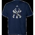 adidas - New York Yankees Navy Adidas Team Logo Youth T-Shirt - T-shirts - $15.99