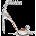 Rocksi -  Alaïa Bombe studded metallic leather sa - Sandals -