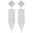 Mees Malanaphy - Alessandra Rich- Diamond fringe earrings - Earrings - $336.00