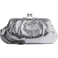 COACH - Coach Occasion Sequin Large Wristlet Silver Handbag Purse 44475 - Coach 44475SLV - Hand bag - $148.99