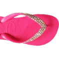EMODA(エモダ) - SWAROVSKI CRYSTAL HAVAIANAS HOT PINK/AB THONGS SANDALS FLIP FLOPS U.S. SIZES 4-10 - Thongs - $74.99