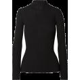 Aurora  - Ance Black Ribbed Top - Long sleeves t-shirts -