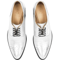 vespagirl - Angela Scott Silver Oxford - Loafers - $450.00