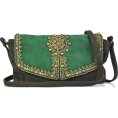 sandra  - Antik Batik embellished suede bag - Messaggero borse -