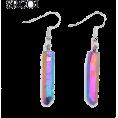 Moth  - Aura Quartz Spike Hanging Earrings - Earrings - $5.69