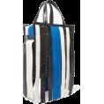 JecaKNS - BALENCIAGA striped textured-leather tote - Hand bag -