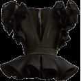 dianefantasy  - BALMAIN  Ruffle-sleeved peplum-hem stret - Shirts -