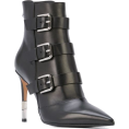 Georgine Dagher - BALMAIN stiletto buckled ankle boots - Boots -