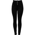 helloexo - BLACK HIGH WAISTED JEANS - Jeans -