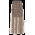 beautifulplace - BRUNELLO CUCINELLI Checked silk skirt - Skirts -