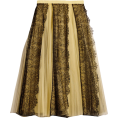 neverorever  - BURBERRY Lace Panel Pleated Tulle Skirt - Skirts -